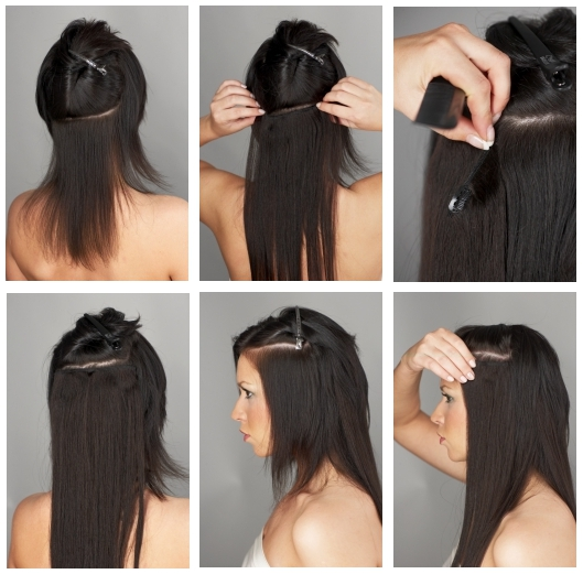Put clip hair extensions images hair extension hair highlights get the natural look hairfleek hair extensions how to install clip ins pmusecretfo images pmusecretfo Choice Image