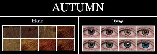 Autumn hair and eye color