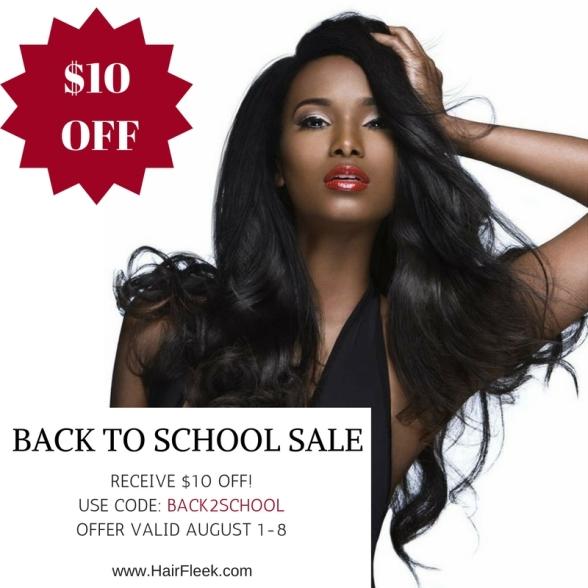 HAIRFLEEK Back to School sale